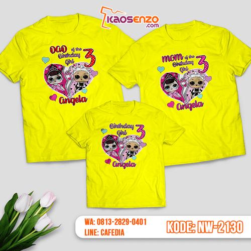 Kaos Couple Keluarga LOL Doll | Kaos Ulang Tahun Anak | Kaos LOL Doll - NW 2130