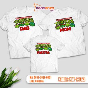Baju Kaos Couple Keluarga Ninja Turtles | Kaos Family Custom | Kaos Ninja Turtles - NW 2163