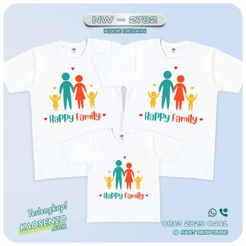 Baju Kaos Couple Keluarga Happy Family   Kaos Happy Family - NW 2782