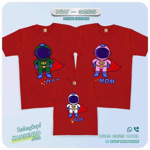 Baju Kaos Couple Keluarga Astronot | Kaos Family Custom | Kaos Astronot - NW 3265