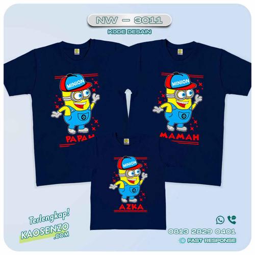 Baju Kaos Couple Keluarga Minion | Kaos Family Custom | Kaos Minion - NW 3011