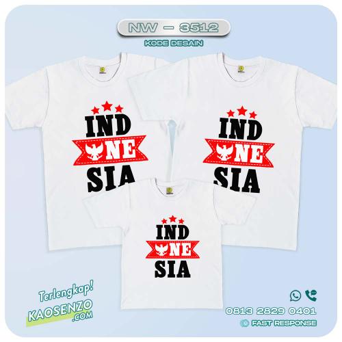 Baju Kaos Couple Keluarga Kemerdekaan | Kaos Family Custom | Kaos Kemerdekaan - NW 3512