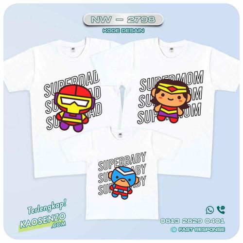 Kaos Couple Keluarga | Kaos Ulang Tahun Anak Superhero - NW 2798