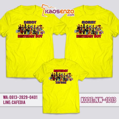 Baju Kaos Couple Keluarga | Kaos Ulang Tahun Anak | Kaos Lego NW - 1013