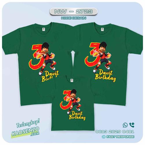Baju Kaos Couple Keluarga | Kaos Family Custom Boboiboy - NW 2723
