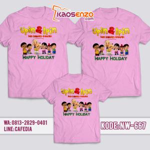 Baju Kaos Couple Keluarga   Kaos Family Custom Upin Ipin - NW 667