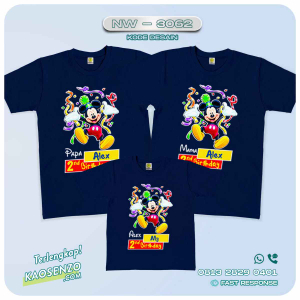 Baju Kaos Couple Keluarga Mickey Minnie Mouse | Kaos Family Custom | Kaos Mickey Minnie Mouse - NW 3062