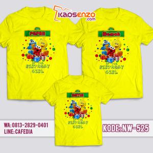 Kaos Couple Keluarga | Kaos Ulang Tahun Anak Keren | Kaos Elmo - NW 525