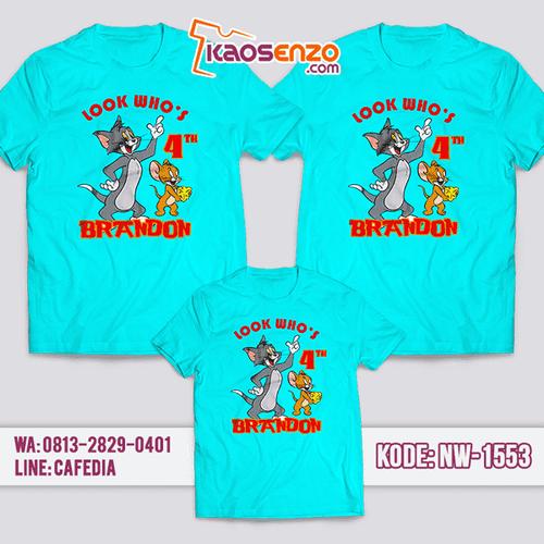 Kaos Couple Keluarga Tom & Jerry | Kaos Ulang Tahun Anak | Kaos Tom & Jerry - NW 1553