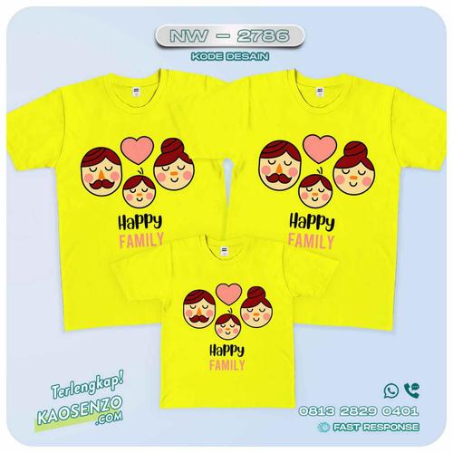 Baju Kaos Couple Keluarga Happy Family   Kaos Happy Family - NW 2786
