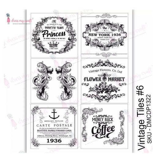 Transfer Paper Vintage Tiles6