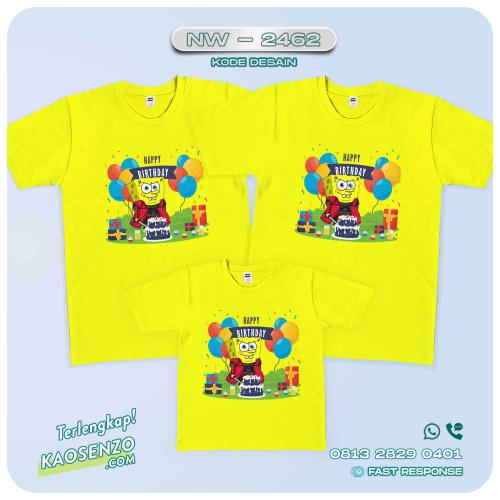 Baju Kaos Couple Keluarga Spongebob | Kaos Family Custom | Kaos Spongebob - NW 2462