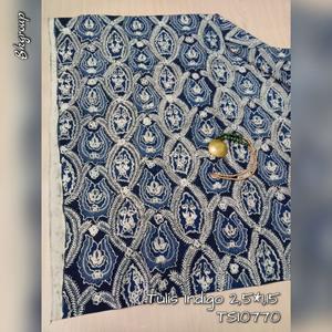 BATIK TULIS INDIGO | KAIN BATIK TULIS SOLO 1312