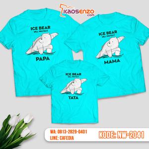 Baju Kaos Couple Keluarga Bare Bears   Kaos Family Custom   Kaos Bare Bears - NW 2041