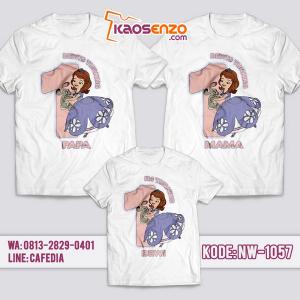 Baju Kaos Couple Keluarga   Kaos Ultah Anak   Kaos Princess   Kaos Sofia - NW 1057
