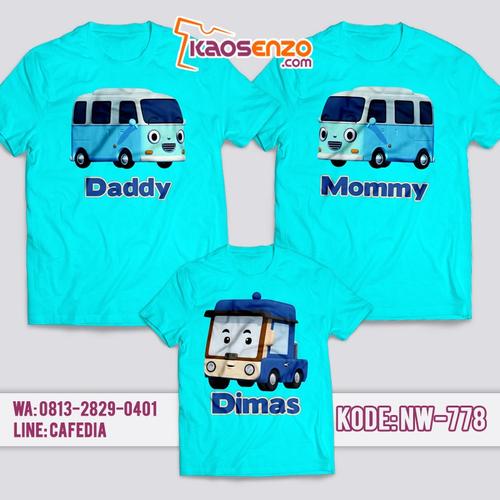 Baju Kaos Couple Keluarga | Kaos Family Custom Tayo - NW 778