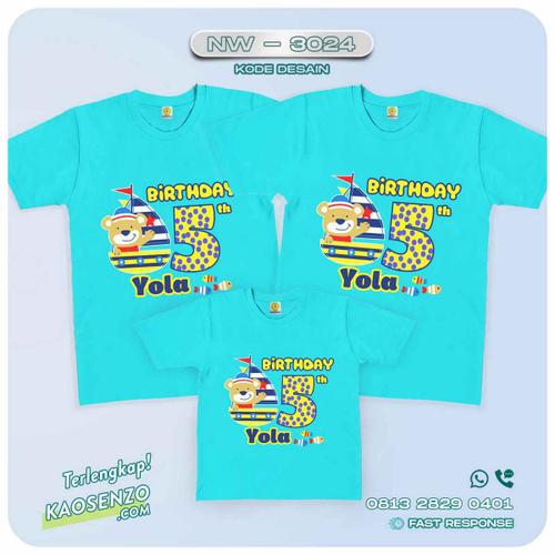Baju Kaos Couple Keluarga Sailor | Kaos Family Custom | Kaos Sailor - NW 3024