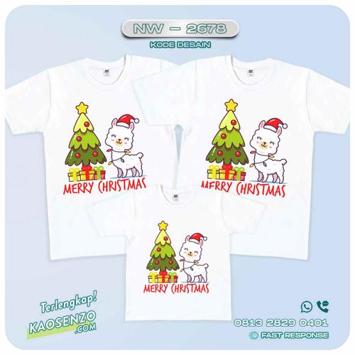 Baju Kaos Couple Keluarga Natal | Kaos Family Custom | Kaos Natal - NW 2678
