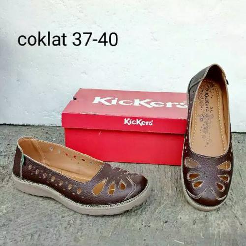Kickers Tan Casual (Wanita) - Coklat