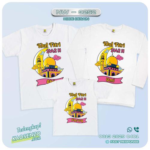 Baju Kaos Couple Keluarga Lebaran | Kaos Family Custom | Kaos Lebaran - NW 3252