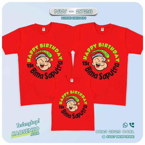 Baju Kaos Couple Keluarga Popeye | Kaos Family Custom | Kaos Popeye - NW 2728