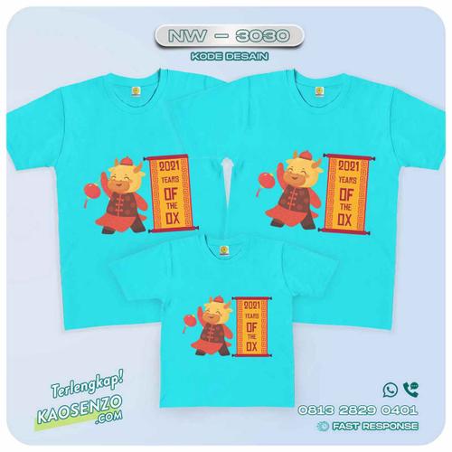 Baju Kaos Couple Keluarga Imlek | Kaos Family Custom | Kaos Imlek - NW 3030