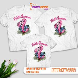 Baju Kaos Couple Keluarga Flamingo | Kaos Ultah Anak | Kaos Flamingo - NW 2309