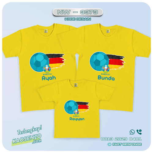 Baju Kaos Couple Keluarga | Kaos Family Custom | Kaos Bola | Euro 2020 - NW 3373