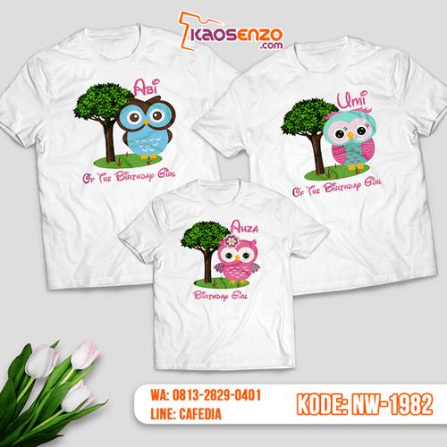 Baju Kaos Couple Keluarga Owl | Kaos Ultah Anak | Kaos Owl - NW 1982