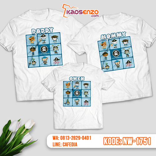 Baju Kaos Couple Keluarga Octonauts | Kaos Family Custom | Kaos Octonauts - NW 1751