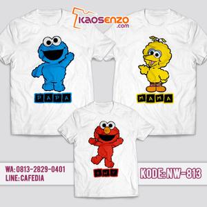Baju Kaos Couple Keluarga | Kaos Family Custom | Kaos Elmo - NW 813