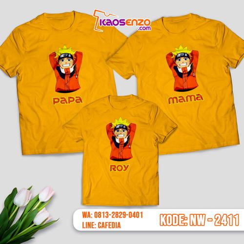 Baju Kaos Couple Keluarga Naruto | Kaos Family Custom | Kaos Naruto - NW 2411