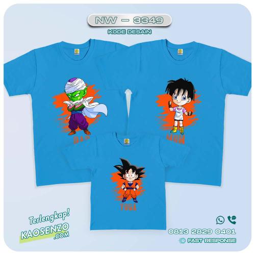 Baju Kaos Couple Keluarga Dragon Ball | Kaos Family Custom | Kaos Dragon Ball - NW 3349