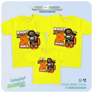 Baju Kaos Couple Keluarga | Kaos Ulang Tahun Anak | Kaos Among Us NW - 2592
