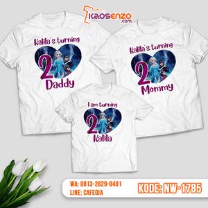 Baju Kaos Couple Keluarga Frozen   Kaos Ultah Anak   Kaos Frozen - NW 1785